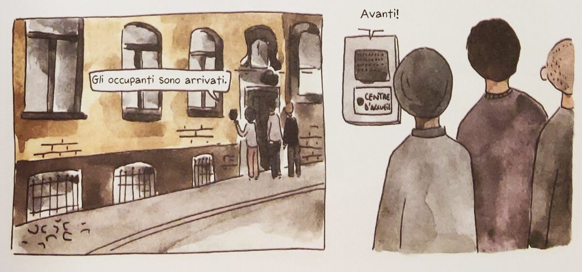 Mio caro fumetto... - Il centro di accoglienza temporanea Transit asbl