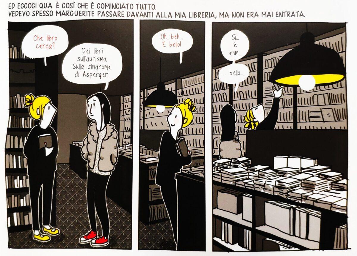 Mio caro fumetto... - Marguerite entra per la prima volta nella sua libreria preferita