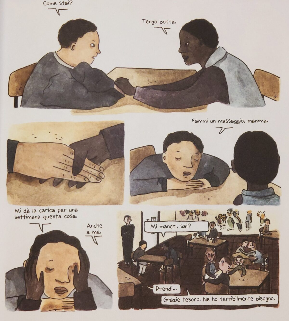 Mio caro fumetto... - Valérie Zézé e suo figlio Miguel durante una visita in carcere