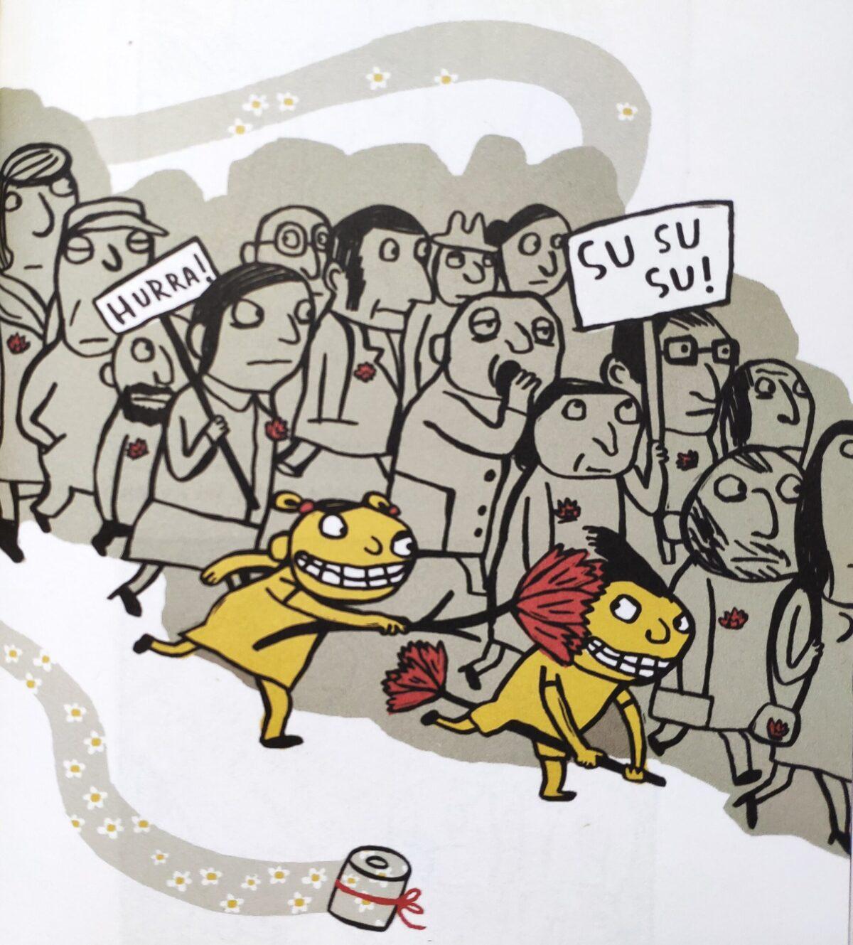 Mio caro fumetto... - Agli adulti non piace partecipare alla manifestazione del primo maggio