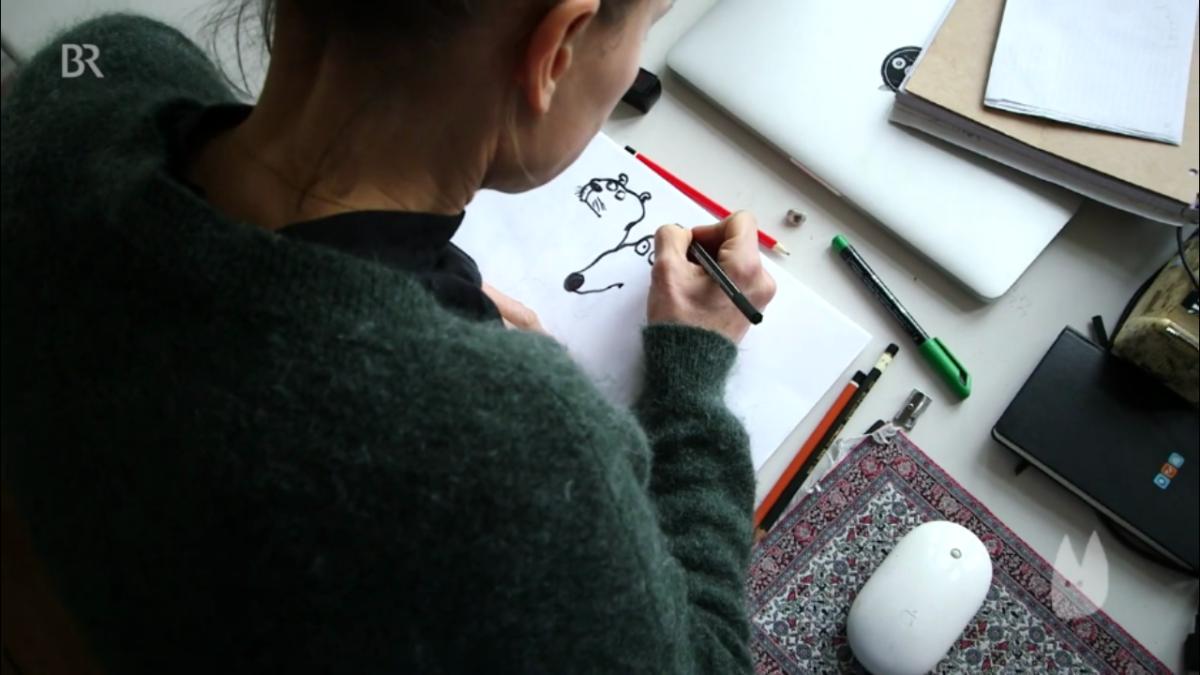 Mio caro fumetto... - Nadia Budde traccia i contorni con il pennarello nero, caratteristica dei disegni di Sangue dal naso e altre avventure
