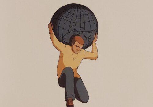 Mio caro fumetto... - Fidati di me e l'uomo forte che porta il peso del mondo sulle spalle