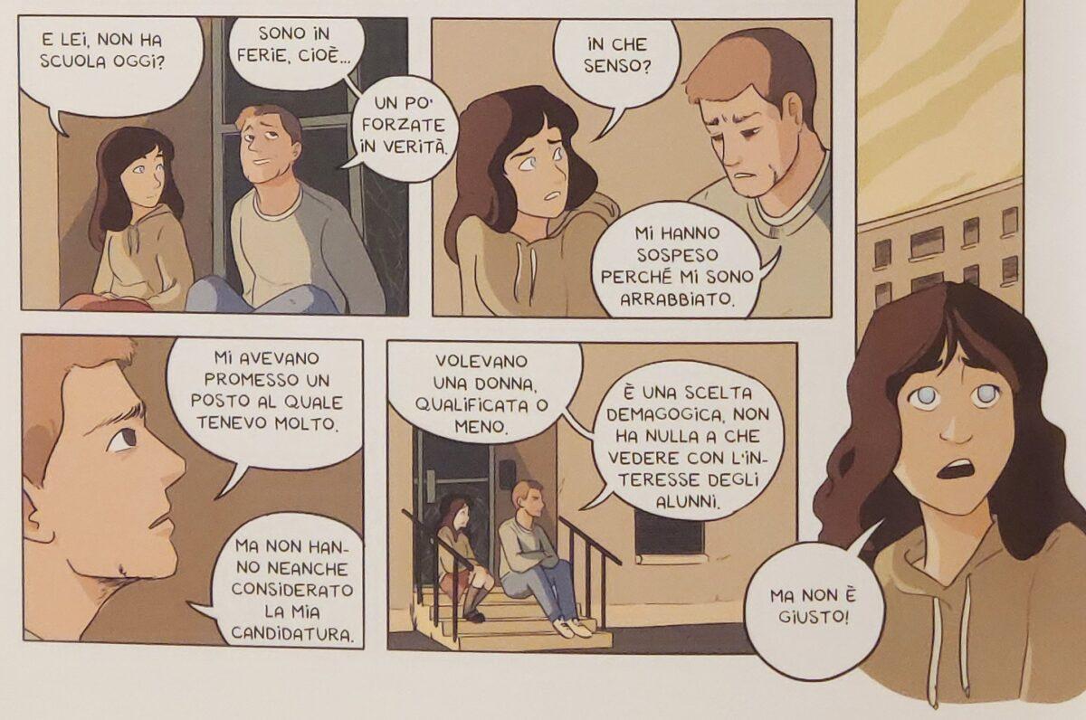 Mio caro fumetto... - Manu confida a Rusine il motivo per cui non lavora