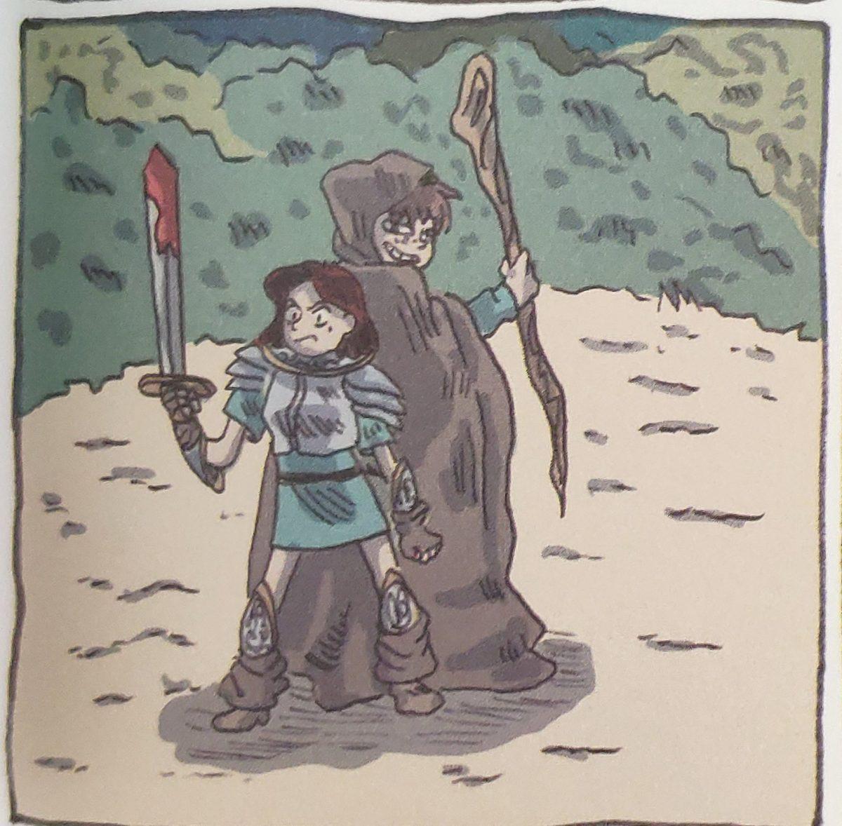 Mio caro fumetto... - Lucía e Fede combattono i mostri con l'arma della fantasia: realismo magico in Giù le zampe