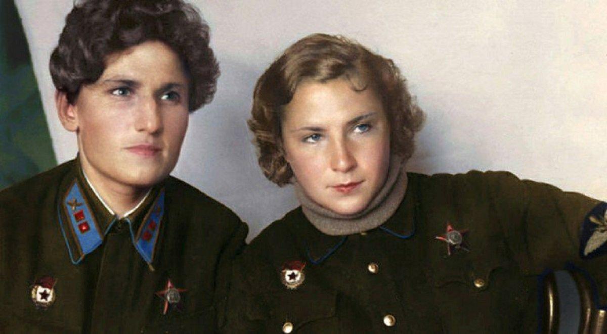 Mio caro fumetto… - Yekaterina Budanova e Lidija Litvjak in una foto d'epoca