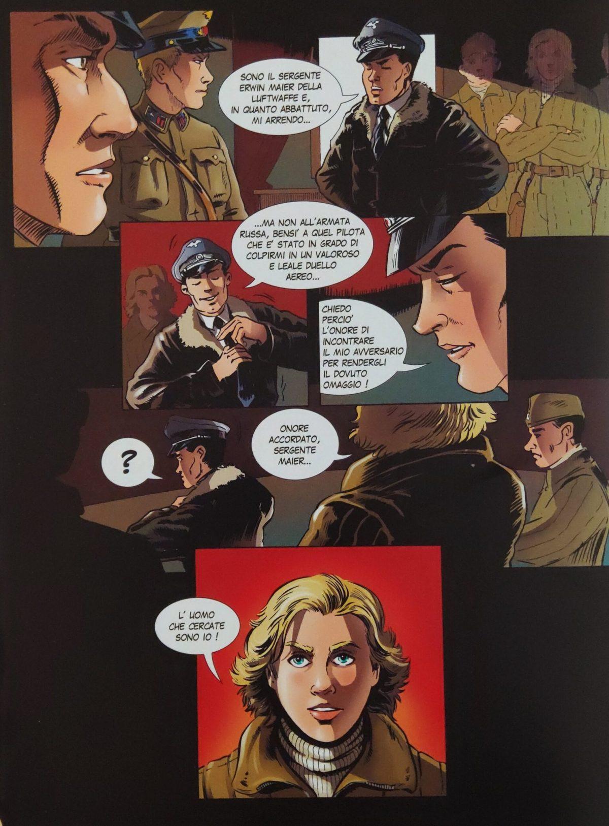 Mio caro fumetto... - Il sergente Erwin Meier scopre che ad abbattere il suo aereo è stata Lidija Litvjak, il Giglio Bianco di Stalingrado
