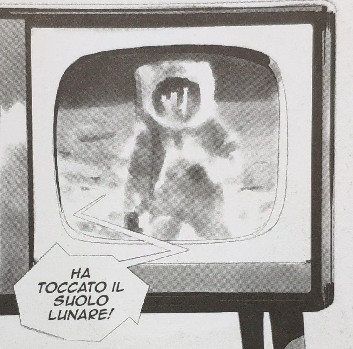 Mio caro fumetto... - La televisione trasmette lo sbarco sulla luna