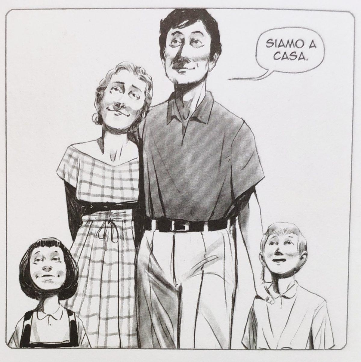 Mio caro fumetto... - Franco Basaglia con la moglie Franca Ongaro e i figli Enrico e Alberta