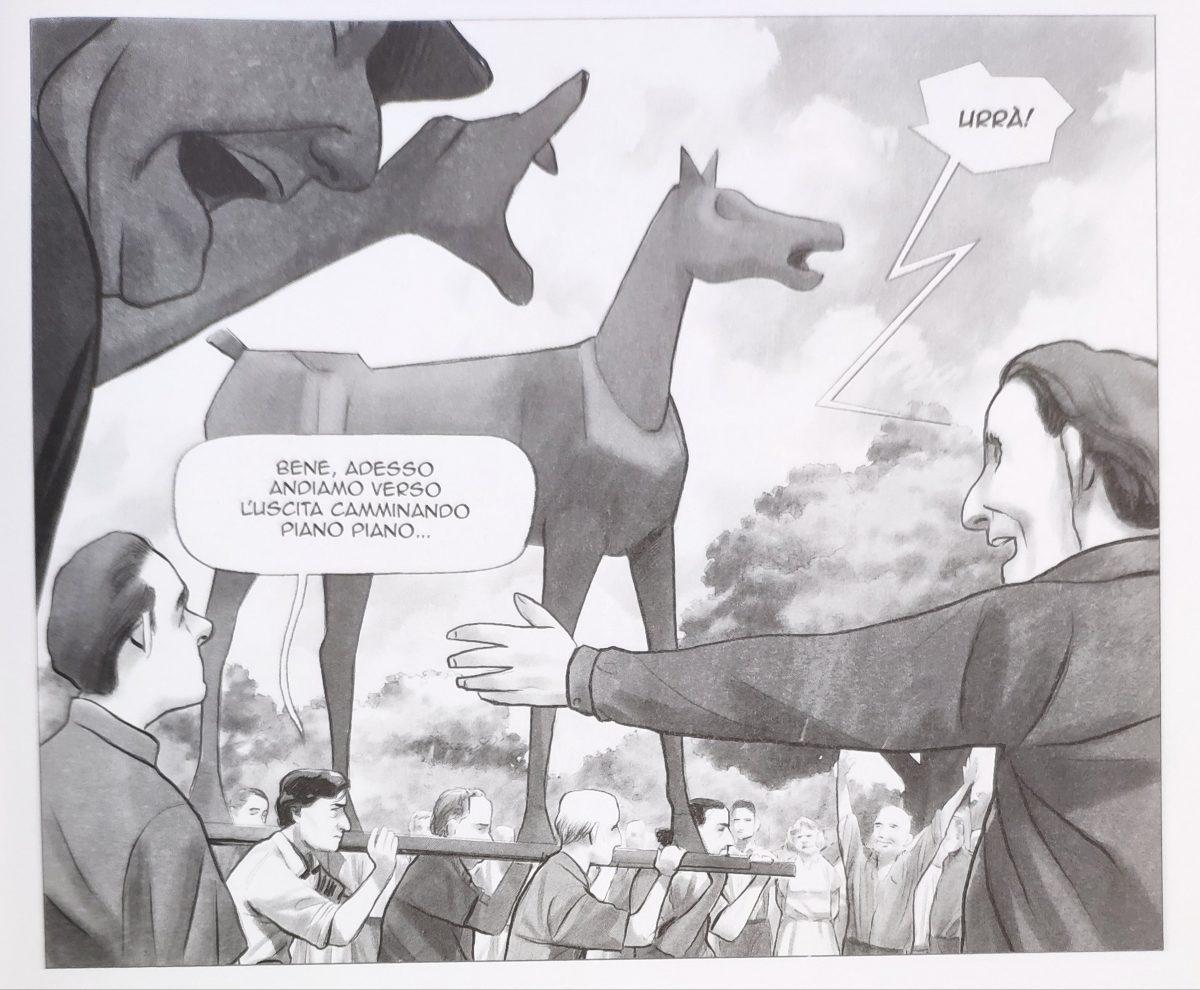 Mio caro fumetto... - Marco Cavallo varca il cancello del manicomio