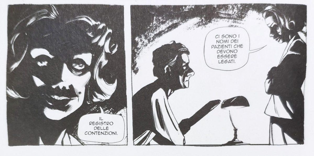 Mio caro fumetto... - Nero drastico per le scene ante intervento di Franco Basaglia
