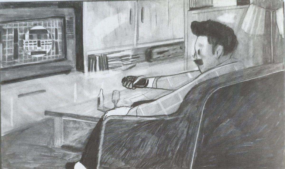 Mio caro fumetto... - Papà Karl a casa, sul divano davanti alla televisione