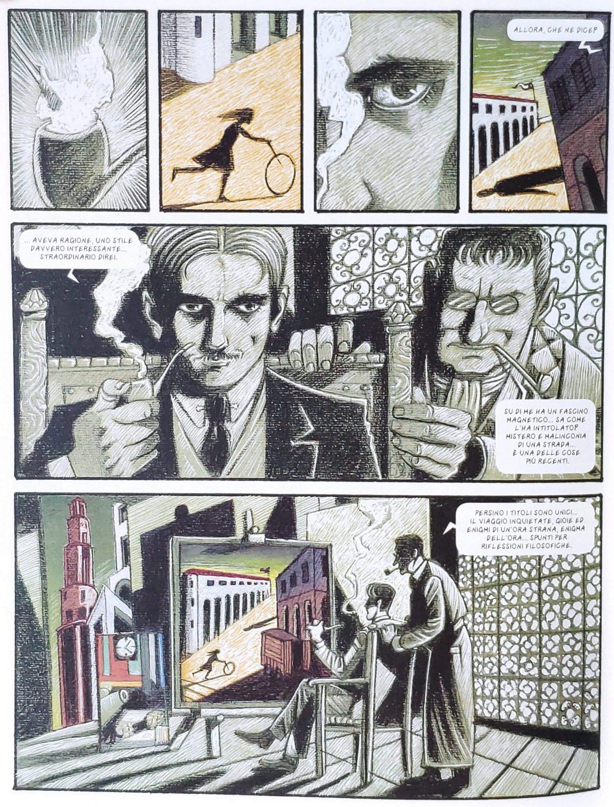 Mio caro fumetto... - Fascino magnetico, enigma e concetti filosofici nei quadri di De Chirico