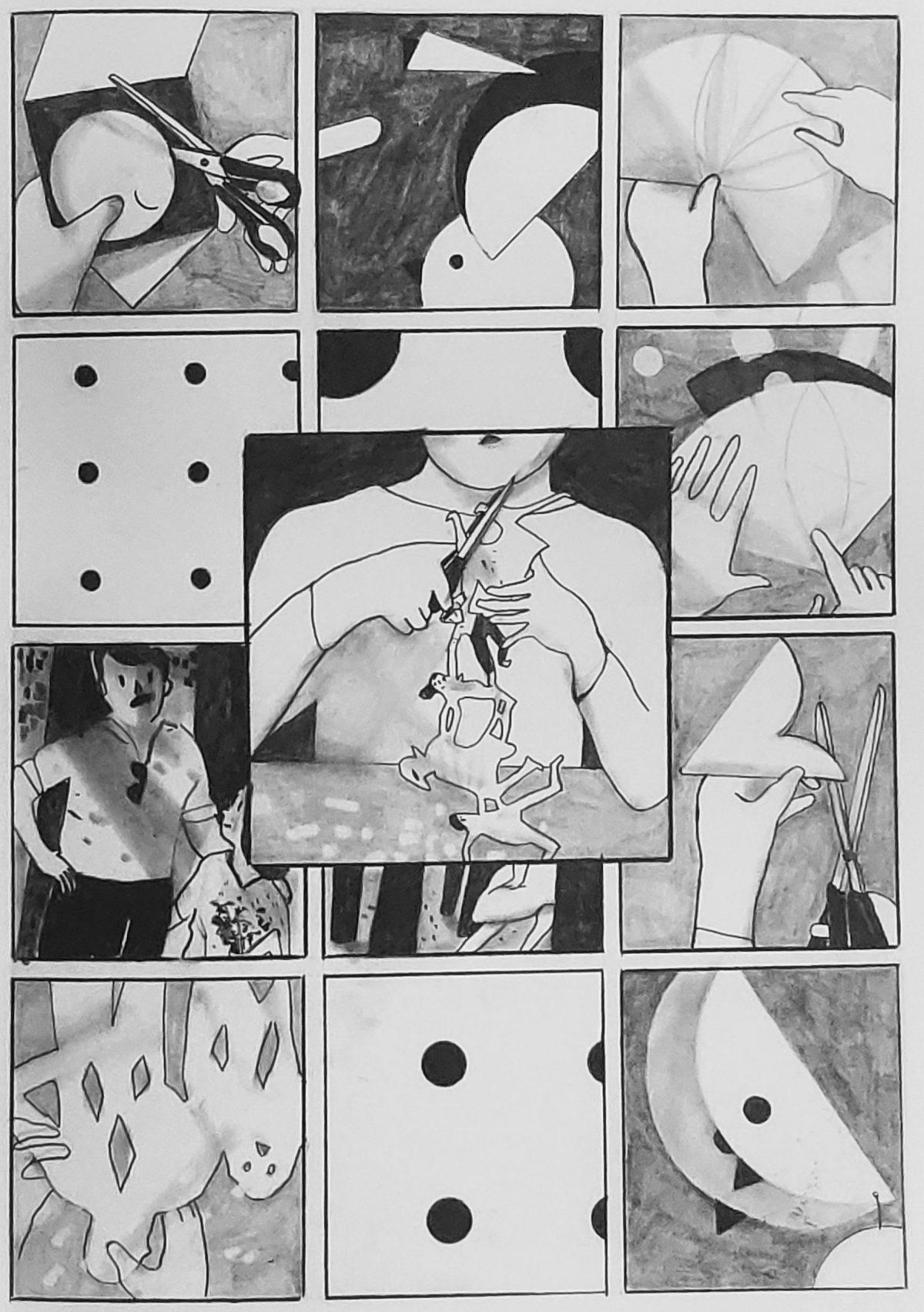 Mio caro fumetto... - Il festone origami