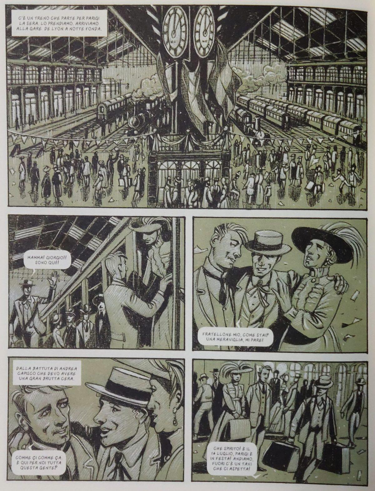 Mio caro fumetto... - L'arrivo alla Gare de Lyon a Parigi il 14 luglio 1911