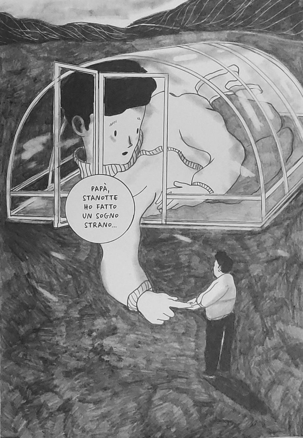 Mio caro fumetto... - Paul nella serra di vetro, uno degli elementi simbolici de La radura