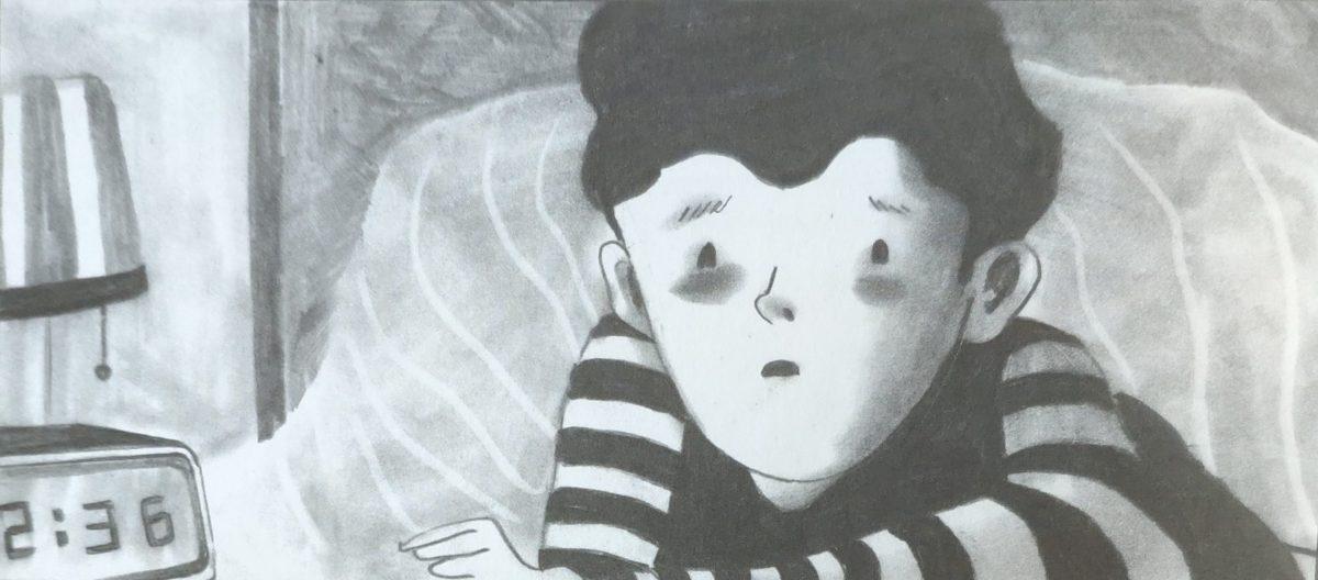 Mio caro fumetto... - Paul sveglio di notte nella sua cameretta