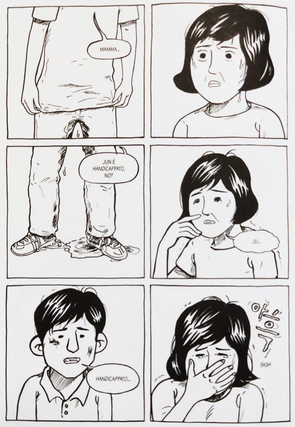 Mio caro fumetto... - Jun traumatizzato dall'aggressione da parte di altri ragazzini